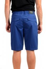 "Hugo Boss Men's ""Kirio-Short-Pleats-D"" Blue Casual Shorts: Picture 3"
