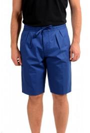 "Hugo Boss Men's ""Kirio-Short-Pleats-D"" Blue Casual Shorts"