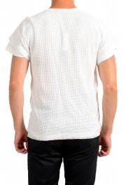 Dolce & Gabbana Men's White Fishnet V-Neck T-Shirt: Picture 3