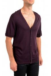 Dolce & Gabbana D&G Men's Purple 100% Wool Cardigan Sweater: Picture 2