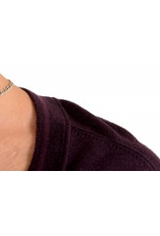 Dolce & Gabbana D&G Men's Purple 100% Wool Cardigan Sweater: Picture 4