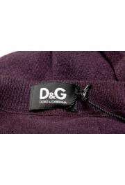 Dolce & Gabbana D&G Men's Purple 100% Wool Cardigan Sweater: Picture 5