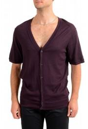 Dolce & Gabbana D&G Men's Purple 100% Wool Cardigan Sweater