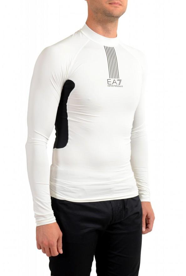 "Emporio Armani EA7 ""Tech M"" Men's White High Neck Long Sleeve T-Shirt: Picture 2"