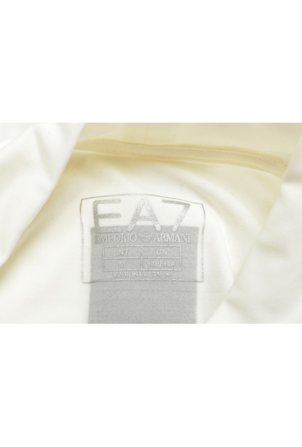 "Emporio Armani EA7 ""Tech M"" Men's White High Neck Long Sleeve T-Shirt: Picture 6"