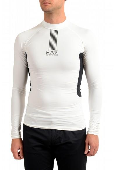 """Emporio Armani EA7 """"Tech M"""" Men's White High Neck Long Sleeve T-Shirt"""