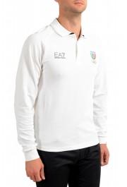 "Emporio Armani EA7 ""Italia Team"" Men's White Long Sleeve Polo Shirt: Picture 2"