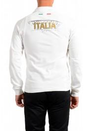 "Emporio Armani EA7 ""Italia Team"" Men's White Long Sleeve Polo Shirt: Picture 3"