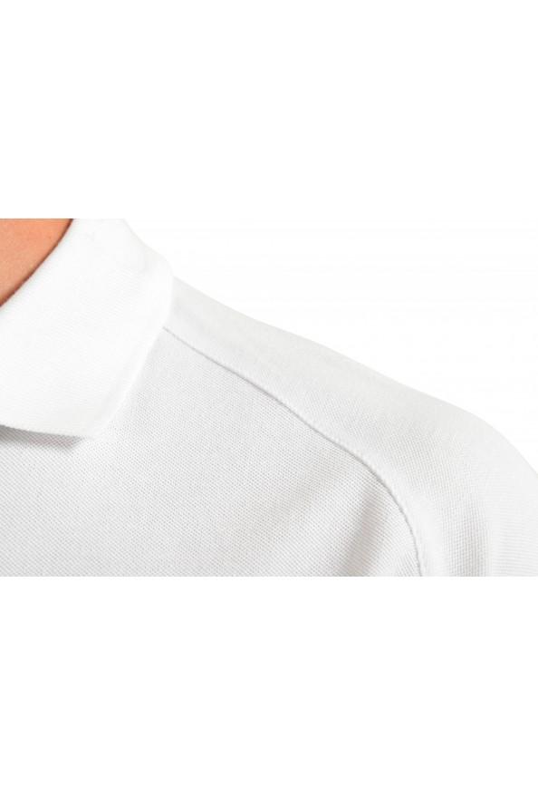 "Emporio Armani EA7 ""Italia Team"" Men's White Long Sleeve Polo Shirt: Picture 4"