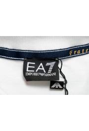 "Emporio Armani EA7 ""Italia Team"" Men's White Long Sleeve Polo Shirt: Picture 5"