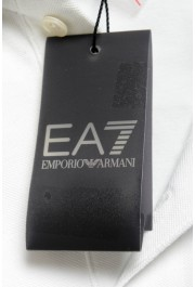 "Emporio Armani EA7 ""Italia Team"" Men's White Long Sleeve Polo Shirt: Picture 6"