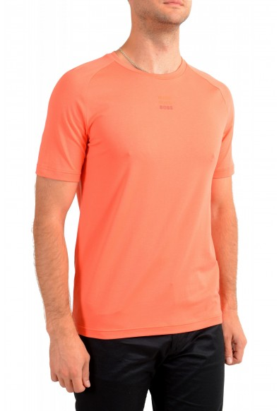 "Hugo Boss Men's ""Thilix"" Slim Fit Orange Logo Print Crewneck T-Shirt: Picture 2"