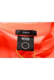 "Hugo Boss Men's ""Thilix"" Slim Fit Orange Logo Print Crewneck T-Shirt: Picture 5"