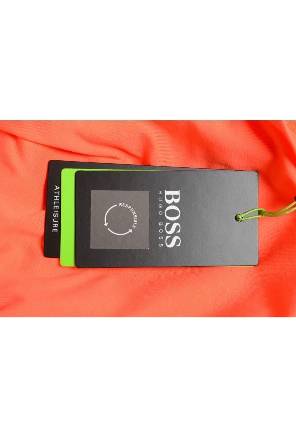 "Hugo Boss Men's ""Thilix"" Slim Fit Orange Logo Print Crewneck T-Shirt: Picture 6"
