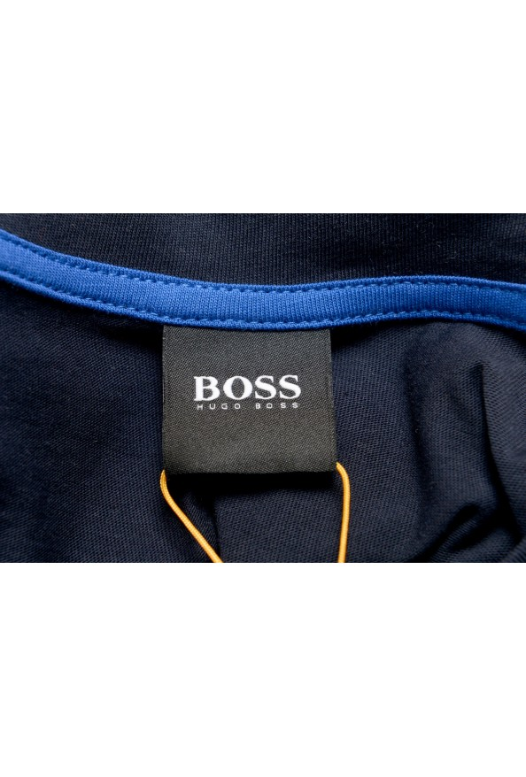 "Hugo Boss Men's ""Teally"" Black Logo Print Crewneck T-Shirt: Picture 5"