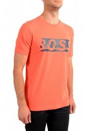 "Hugo Boss Men's ""Tee 4"" Black Logo Print Crewneck T-Shirt: Picture 2"