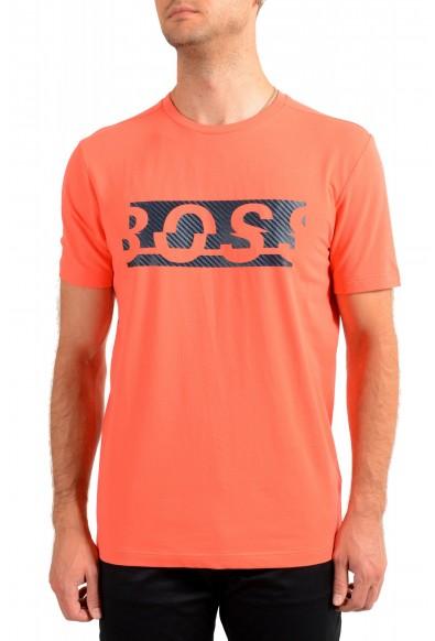 "Hugo Boss Men's ""Tee 4"" Black Logo Print Crewneck T-Shirt"