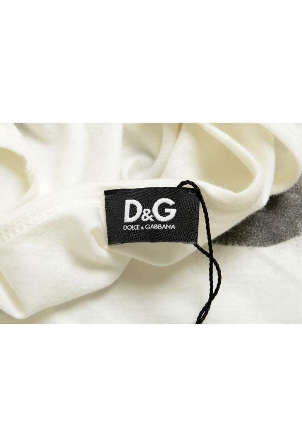 Dolce & Gabbana D&G Men's Graphic Print Beige Tank Top: Picture 5