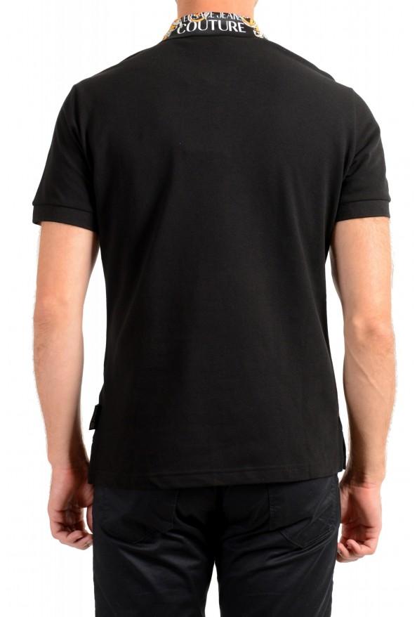 Versace Jeans Couture Men's Black Slim Baroque Print Short Sleeve Polo Shirt: Picture 3