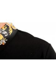 Versace Jeans Couture Men's Black Slim Baroque Print Short Sleeve Polo Shirt: Picture 4