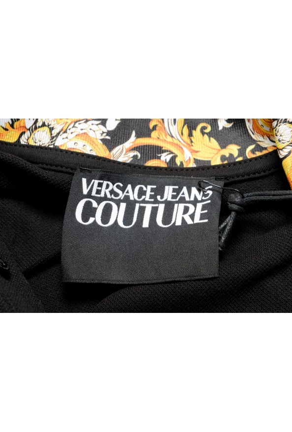 Versace Jeans Couture Men's Black Slim Baroque Print Short Sleeve Polo Shirt: Picture 5