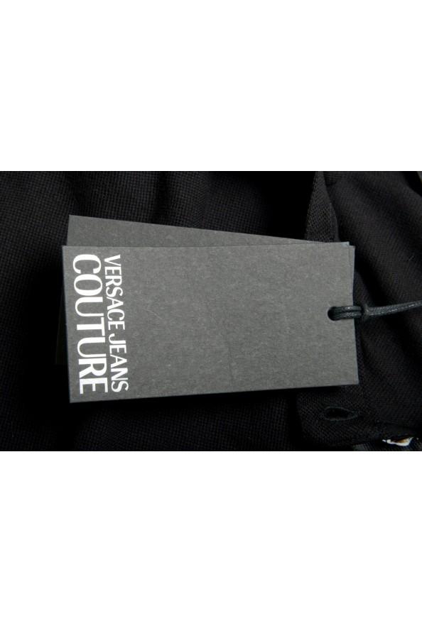 Versace Jeans Couture Men's Black Slim Baroque Print Short Sleeve Polo Shirt: Picture 6