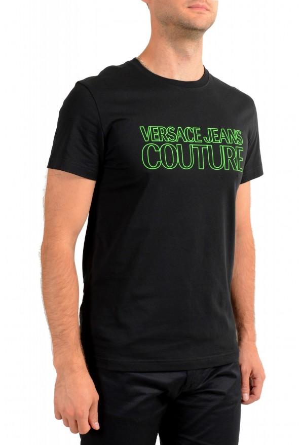 Versace Jeans Couture Men's Logo Print Black Short Sleeve T-Shirt: Picture 2