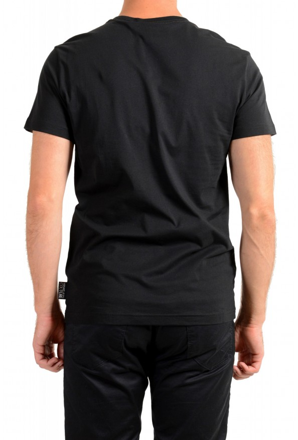 Versace Jeans Couture Men's Logo Print Black Short Sleeve T-Shirt: Picture 3