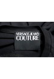 Versace Jeans Couture Men's Logo Print Black Short Sleeve T-Shirt: Picture 5