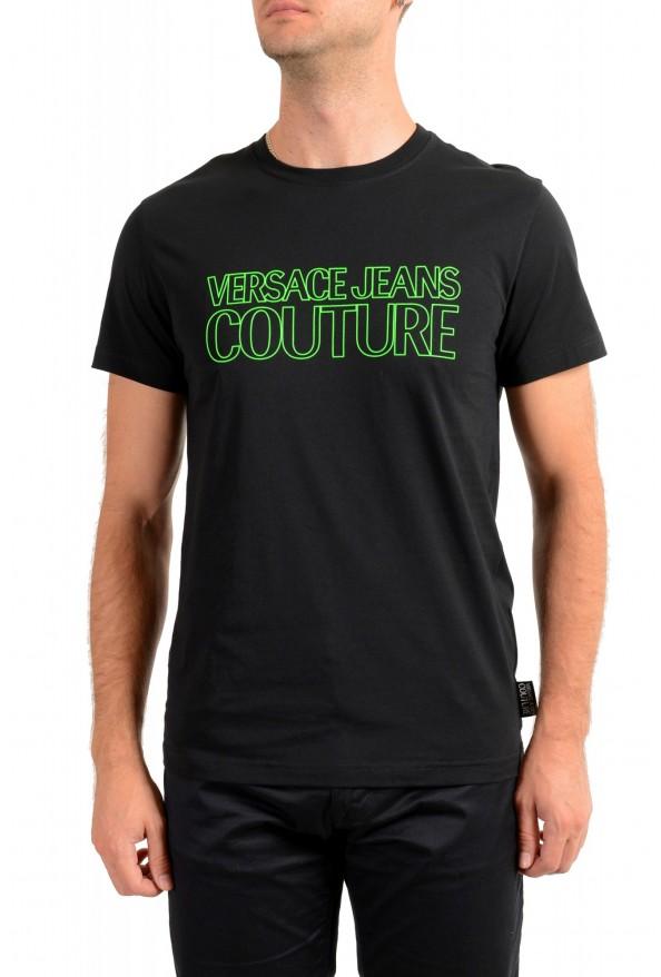 Versace Jeans Couture Men's Logo Print Black Short Sleeve T-Shirt