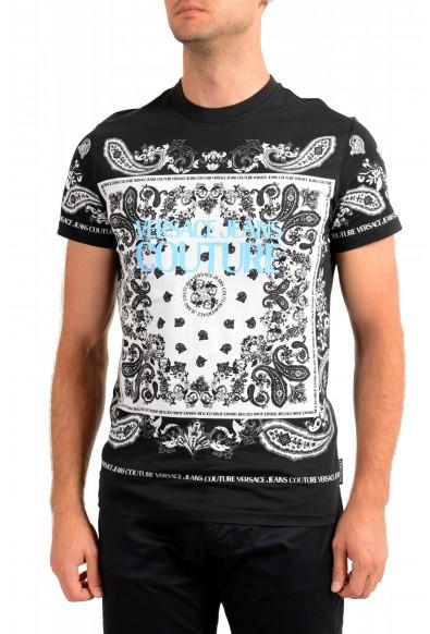 Versace Jeans Couture Men's Logo Print Multi-Color Short Sleeve T-Shirt