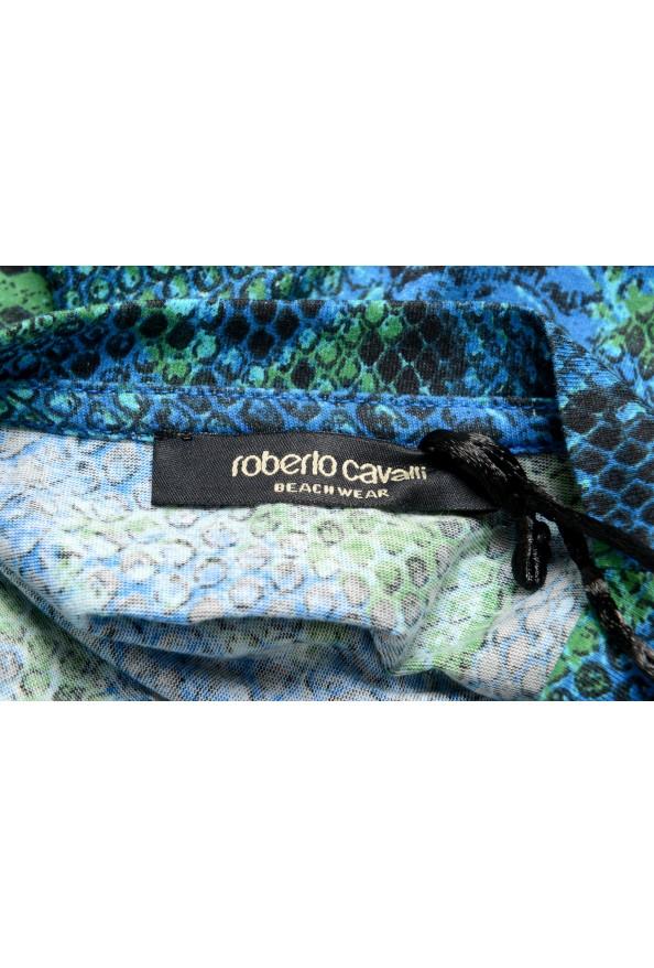 Roberto Cavalli Men's Logo Print Multi-Color Short Sleeve T-Shirt: Picture 5
