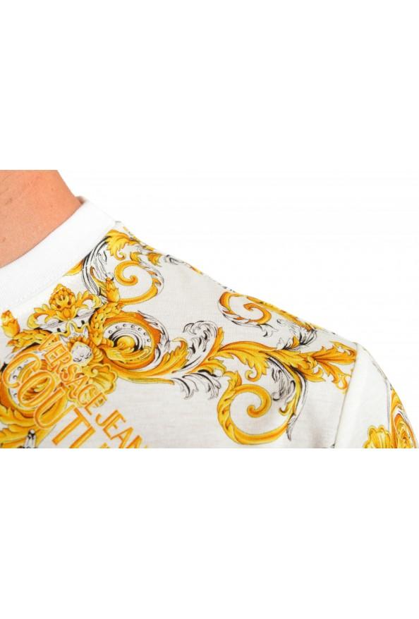 Versace Jeans Couture Men's Logo Barocco Print Multi-Color Short Sleeve T-Shirt: Picture 4