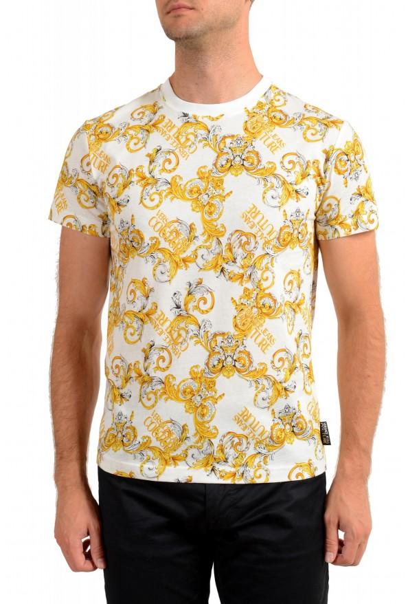 Versace Jeans Couture Men's Logo Barocco Print Multi-Color Short Sleeve T-Shirt