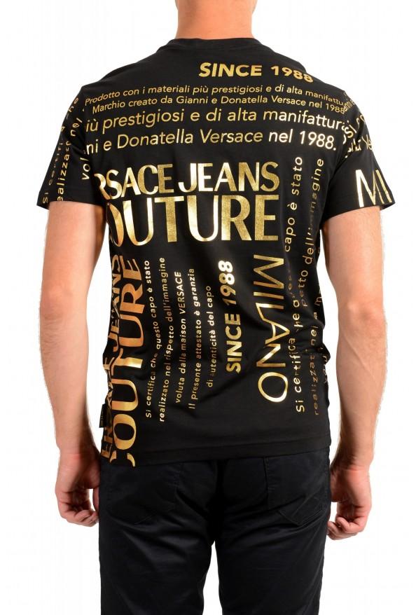 Versace Jeans Couture Men's Black & Gold Logo Print Short Sleeve T-Shirt: Picture 3