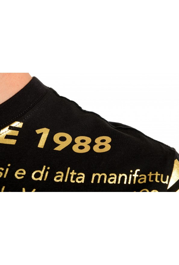 Versace Jeans Couture Men's Black & Gold Logo Print Short Sleeve T-Shirt: Picture 4