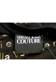 Versace Jeans Couture Men's Black & Gold Logo Print Short Sleeve T-Shirt: Picture 5