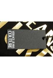 Versace Jeans Couture Men's Black & Gold Logo Print Short Sleeve T-Shirt: Picture 6