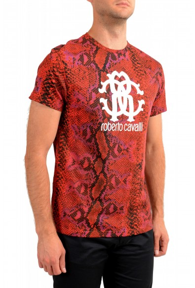 Roberto Cavalli Men's Logo Print Multi-Color Short Sleeve T-Shirt: Picture 2