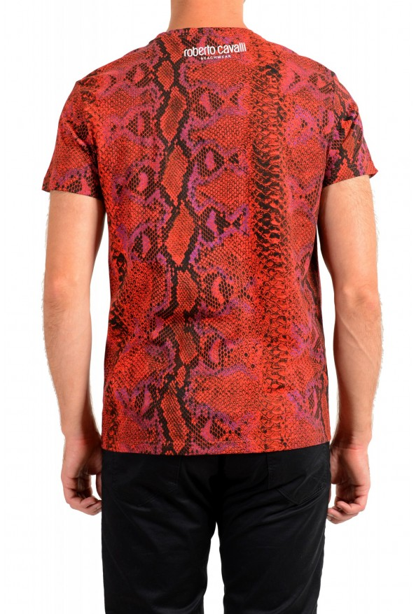 Roberto Cavalli Men's Logo Print Multi-Color Short Sleeve T-Shirt: Picture 3