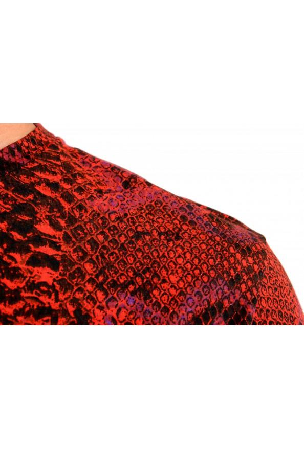 Roberto Cavalli Men's Logo Print Multi-Color Short Sleeve T-Shirt: Picture 4