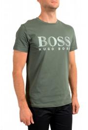 "Hugo Boss Men's ""T-Shirt RN"" Green Logo Print Crewneck T-Shirt: Picture 2"