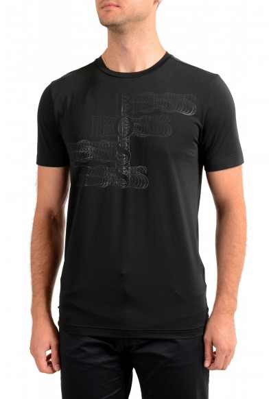 "Hugo Boss Men's ""Teetech1"" Slim Fit Stretch Black Crewneck T-Shirt"