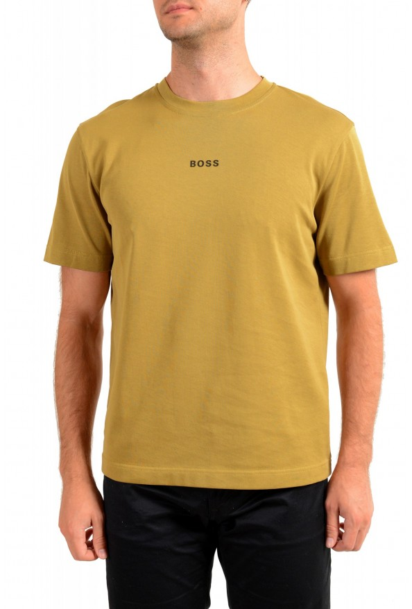 "Hugo Boss Men's ""Teepaper1"" Olive Green Crewneck T-Shirt"