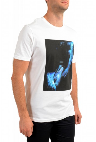 "Hugo Boss Men's ""Terisk"" White Graphic Print Crewneck T-Shirt: Picture 2"