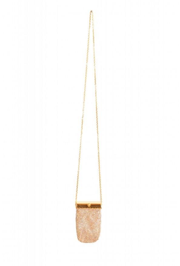 "Versace Women's ""Oro Tribute"" Medusa Logo Sparkle Mini Bag"