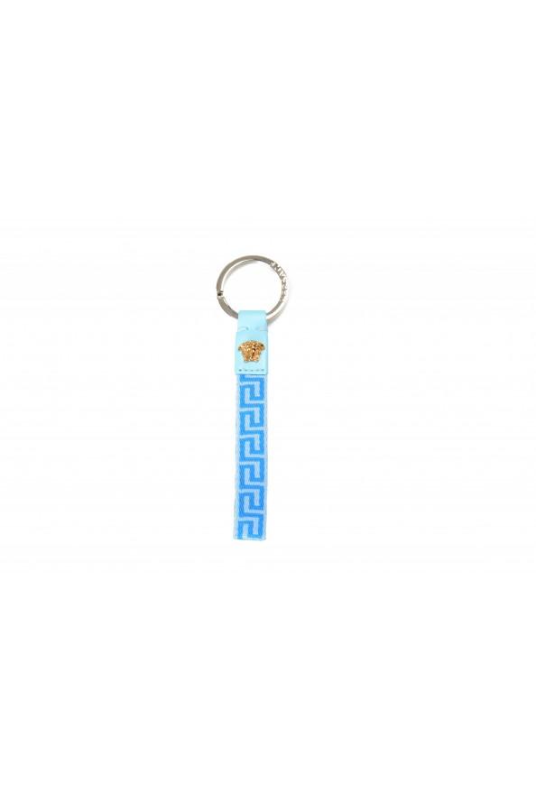 Versace Blue Gold Logo Medusa Key Chain