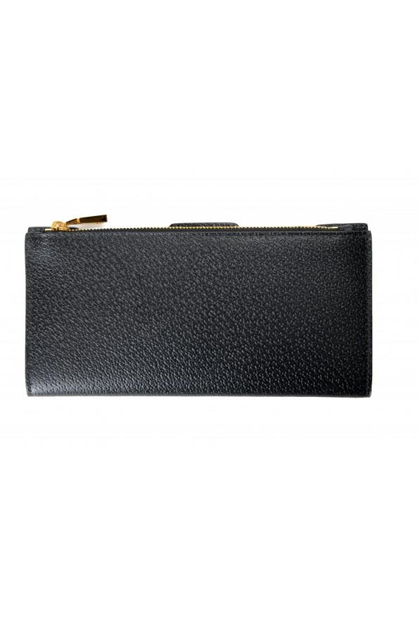 Versace Women's Black Textured Leather Medusa Logo Wallet: Picture 5