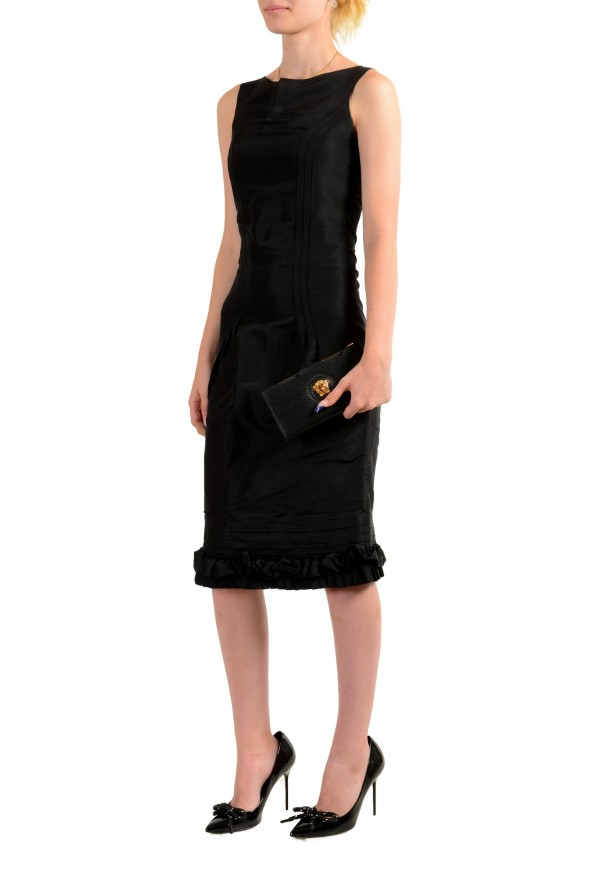 Versace Women's Black Textured Leather Medusa Logo Wallet: Picture 2