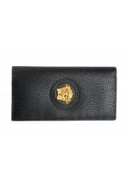 Versace Women's Black Textured Leather Medusa Logo Wallet: Picture 3